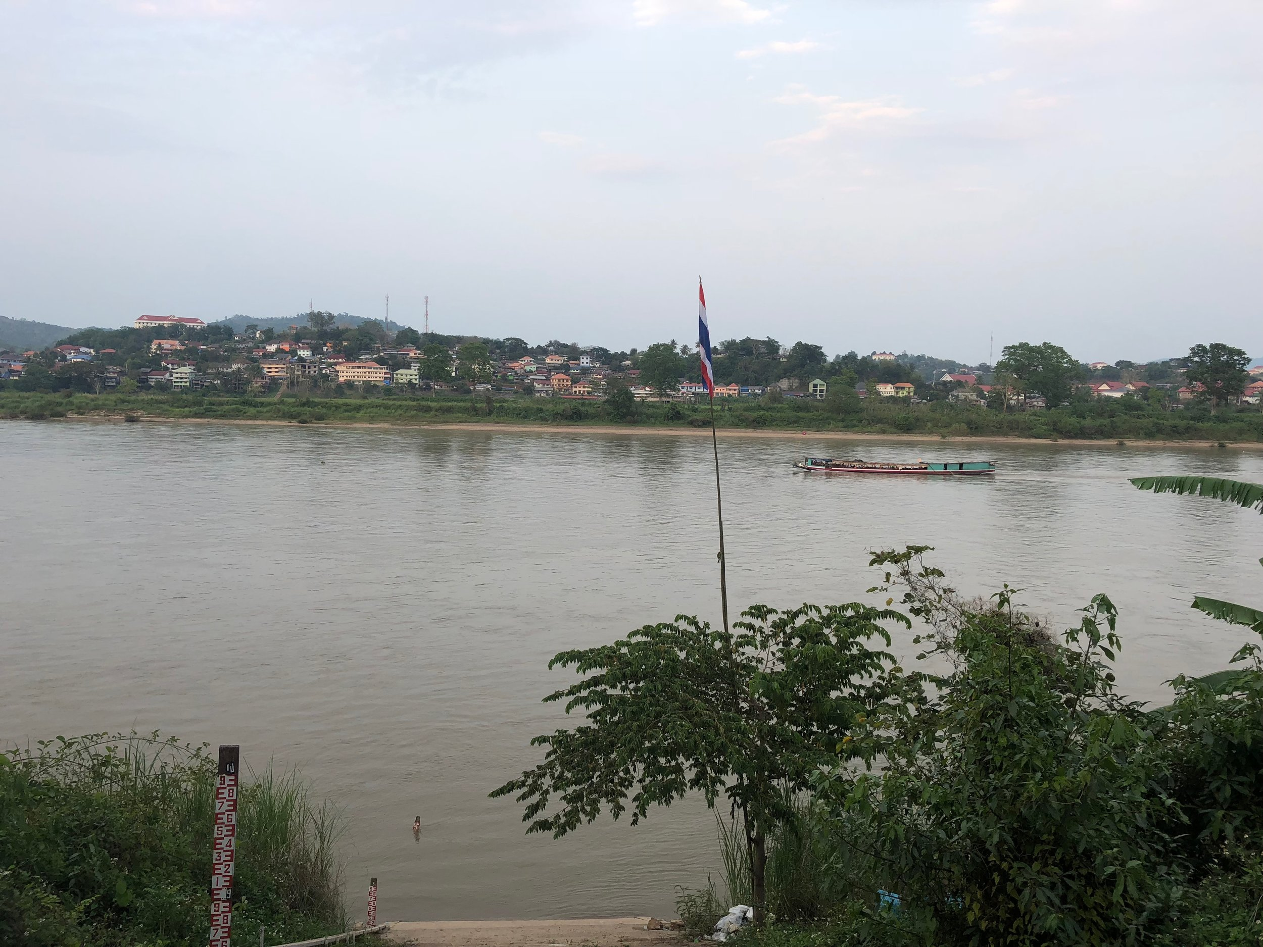 Mekong river with Laos on the other side....