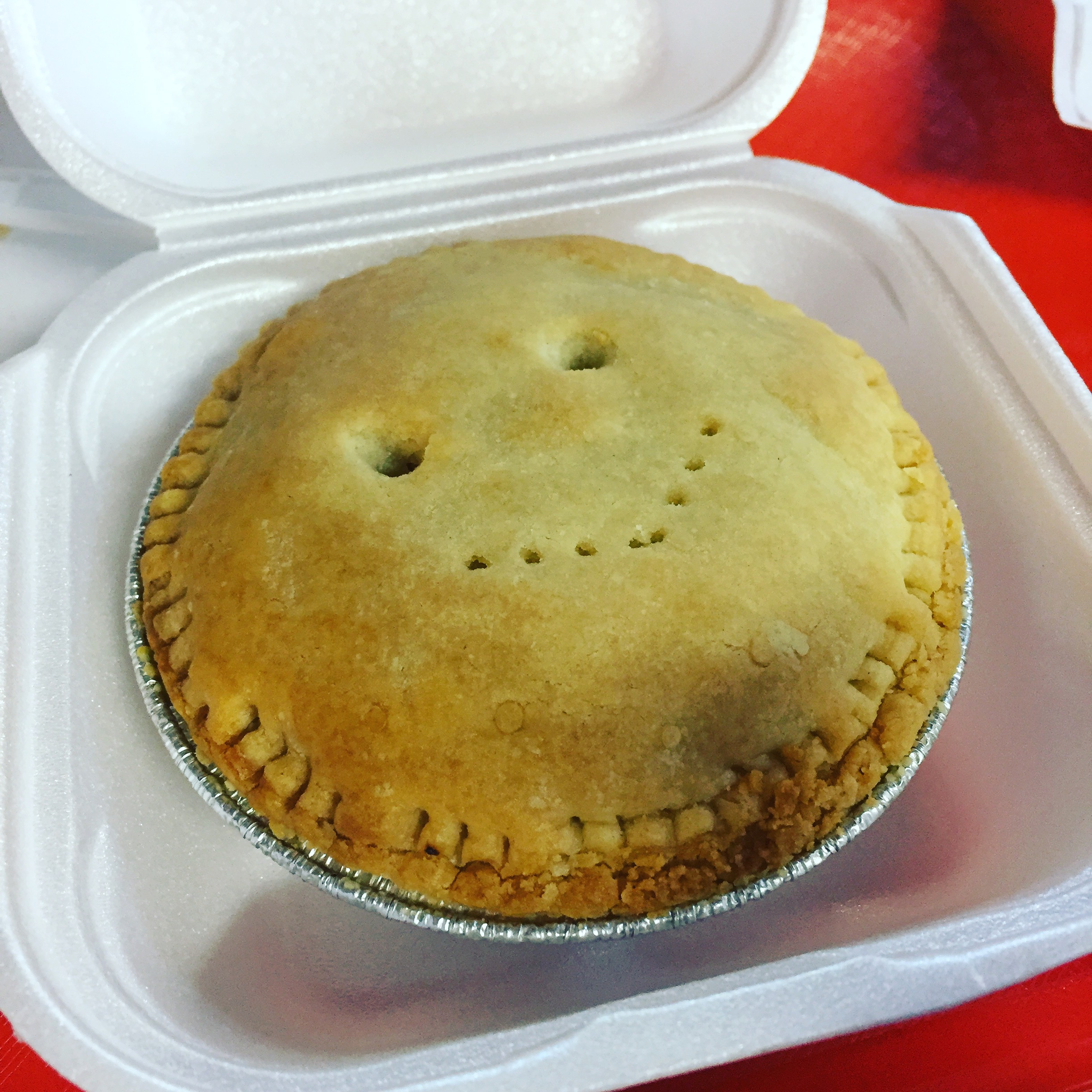 Meat Pies at the Farmers Market.