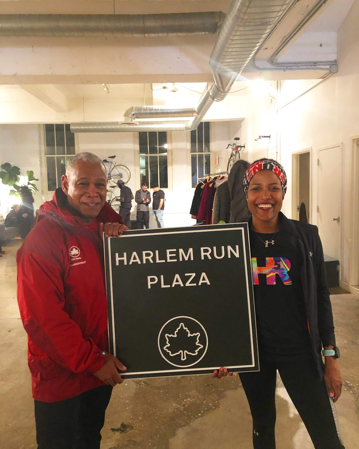 Mitchell Silver, NYC Parks Commissioner, and Alison Mariella Désir-Figueroa, Harlem Run Founder.