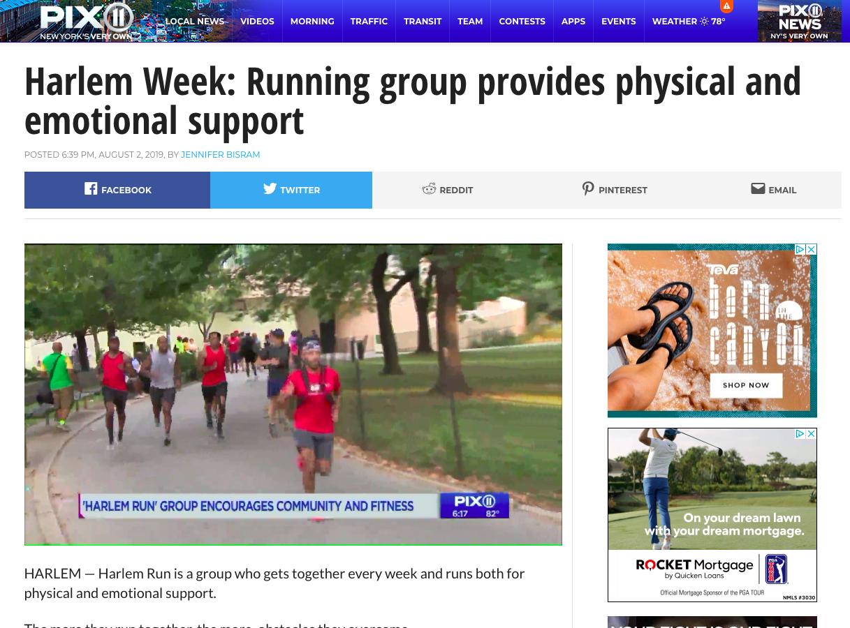 Harlem Run on Pix11 News for #HarlemWeek '19 -