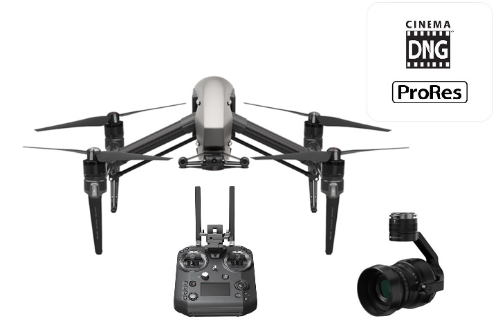 DJI Inspire 2 Package - Cinema DNG / ProRes LicenseDJI Crystal Sky UltrabrightDJI Cendence ControllerX5S Camera including 45mm and 24mm8 Batteries, high/low altitude blades and more