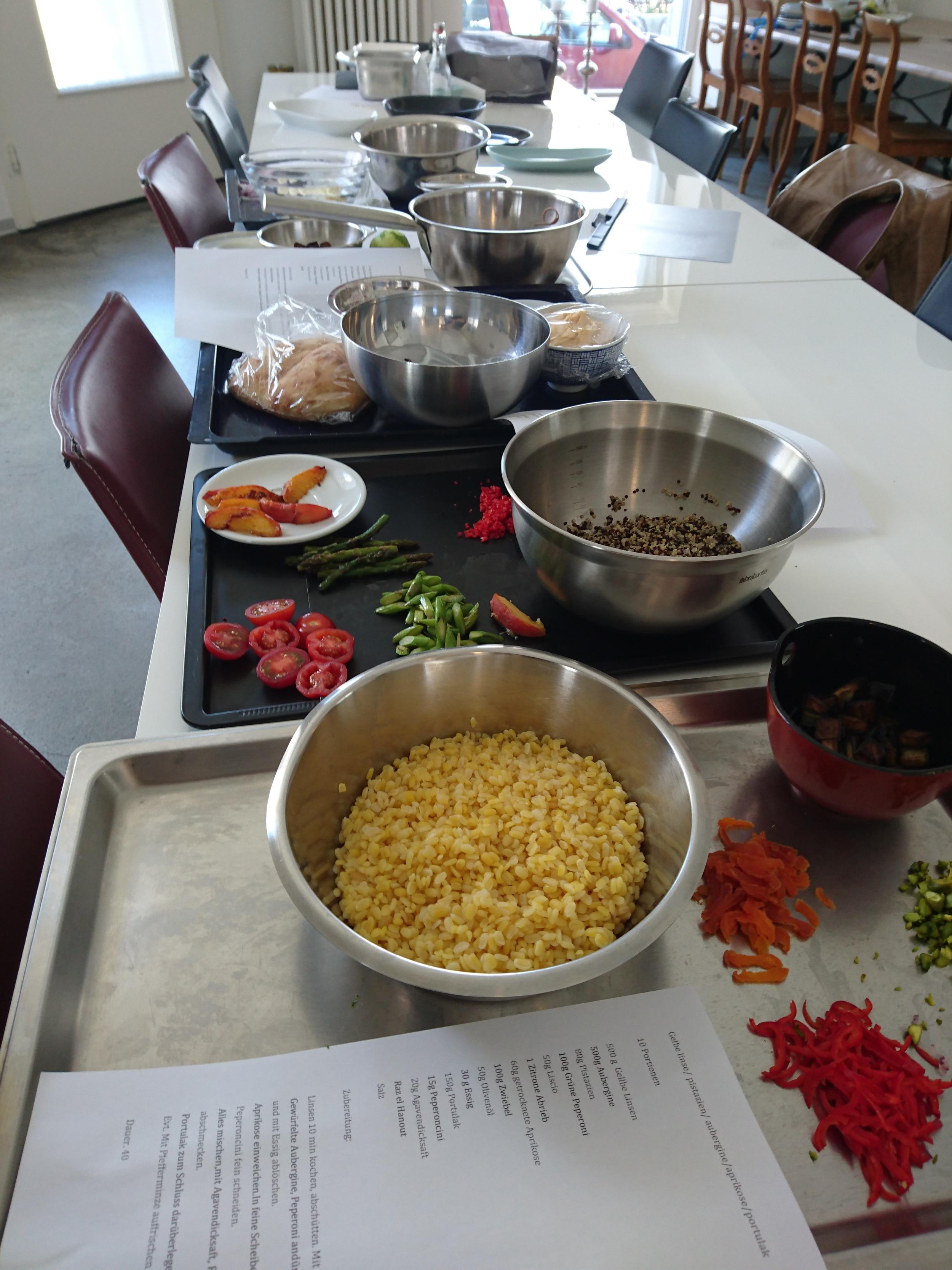 Alle Gerichte sind bereit