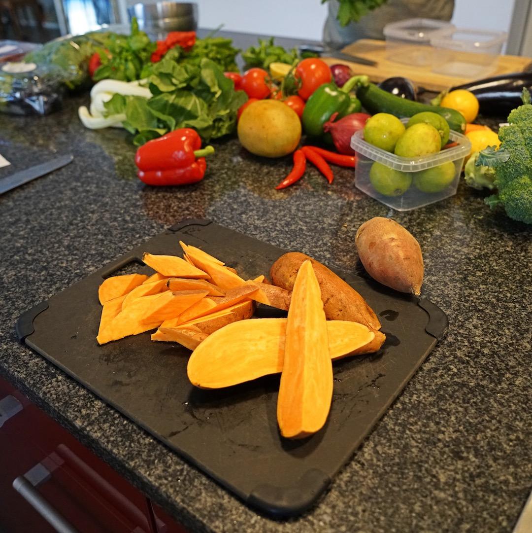 Wir schneiden unser Gemüse erst kurz vor der Zubereitung.