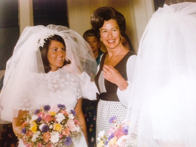 My mom on her wedding day with my grandmother