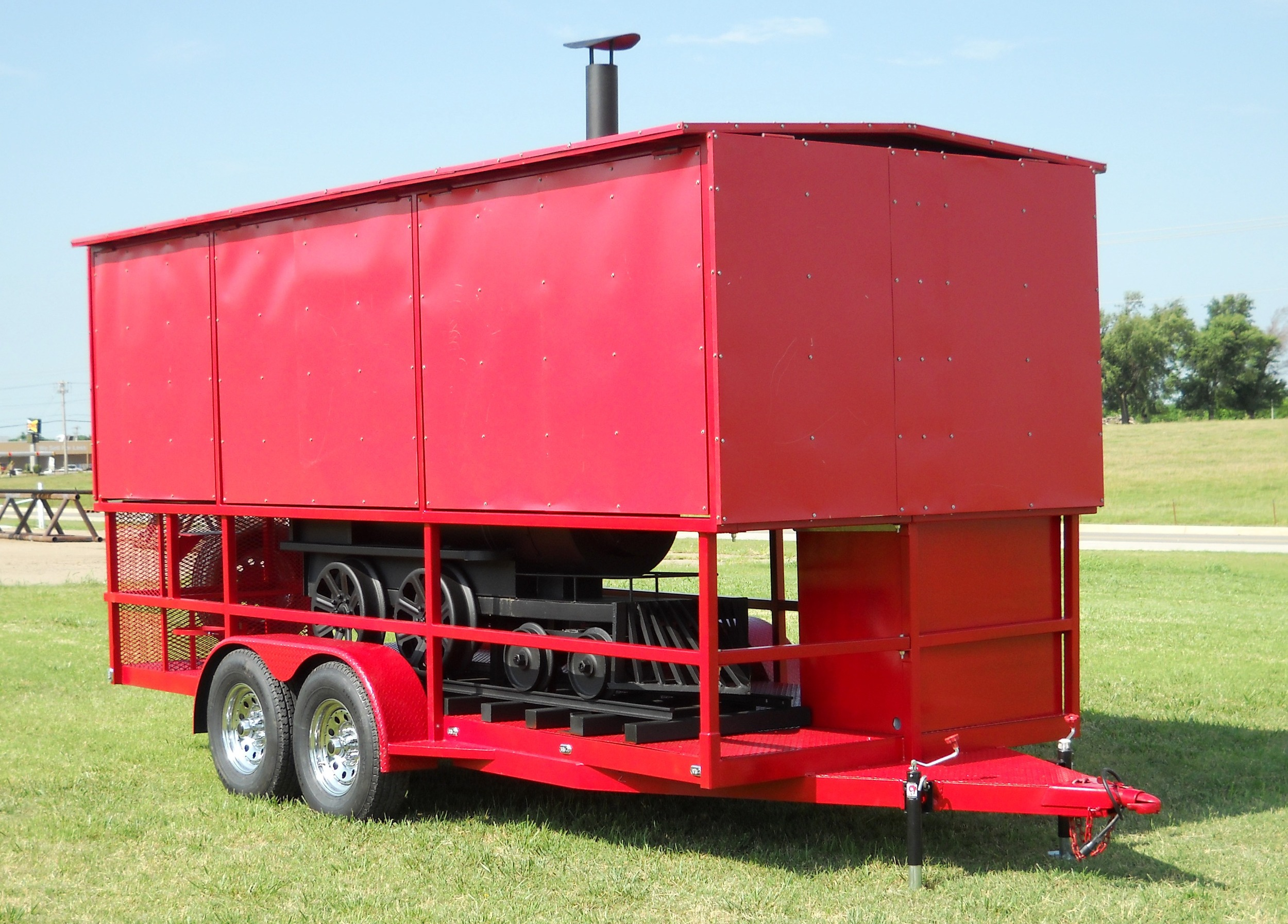Custom Train Smoker Trailer