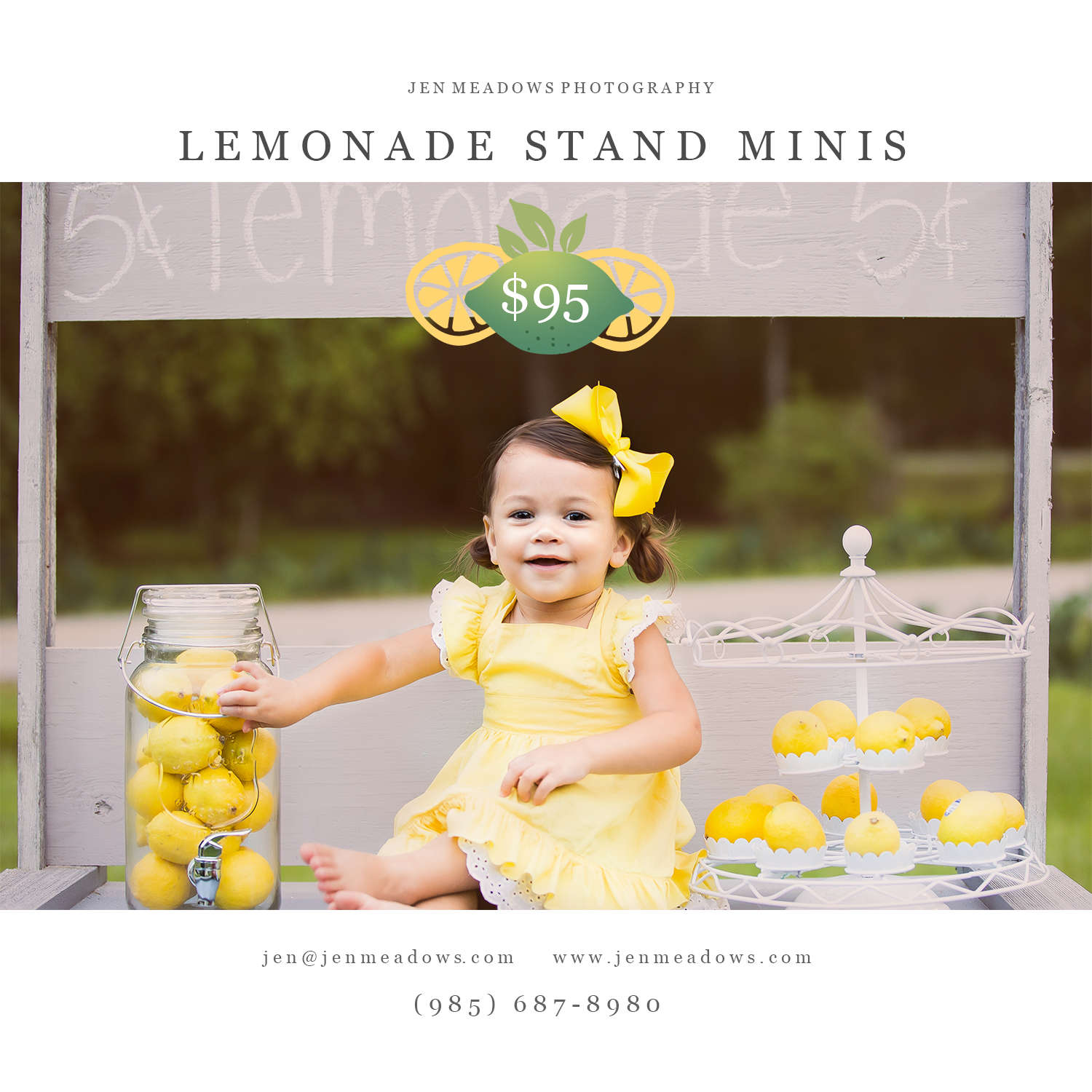 Did you book your Lemonade Stand Mini in Slidell, LA yet??