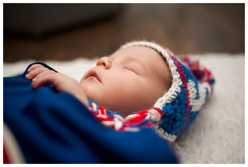 Chicago Cubs Newborn Session Mandeville LA