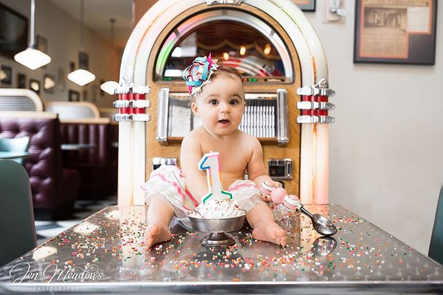 Well let's just be honest, all cake smash sessions shouldn't be created equal.  They only turn ONE once!  It certainly should be celebrated! A huge thank you to the @oldtownsodashop and their amazing employees!