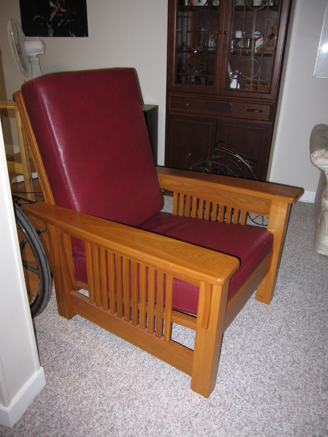 Mission-style chair in cherry