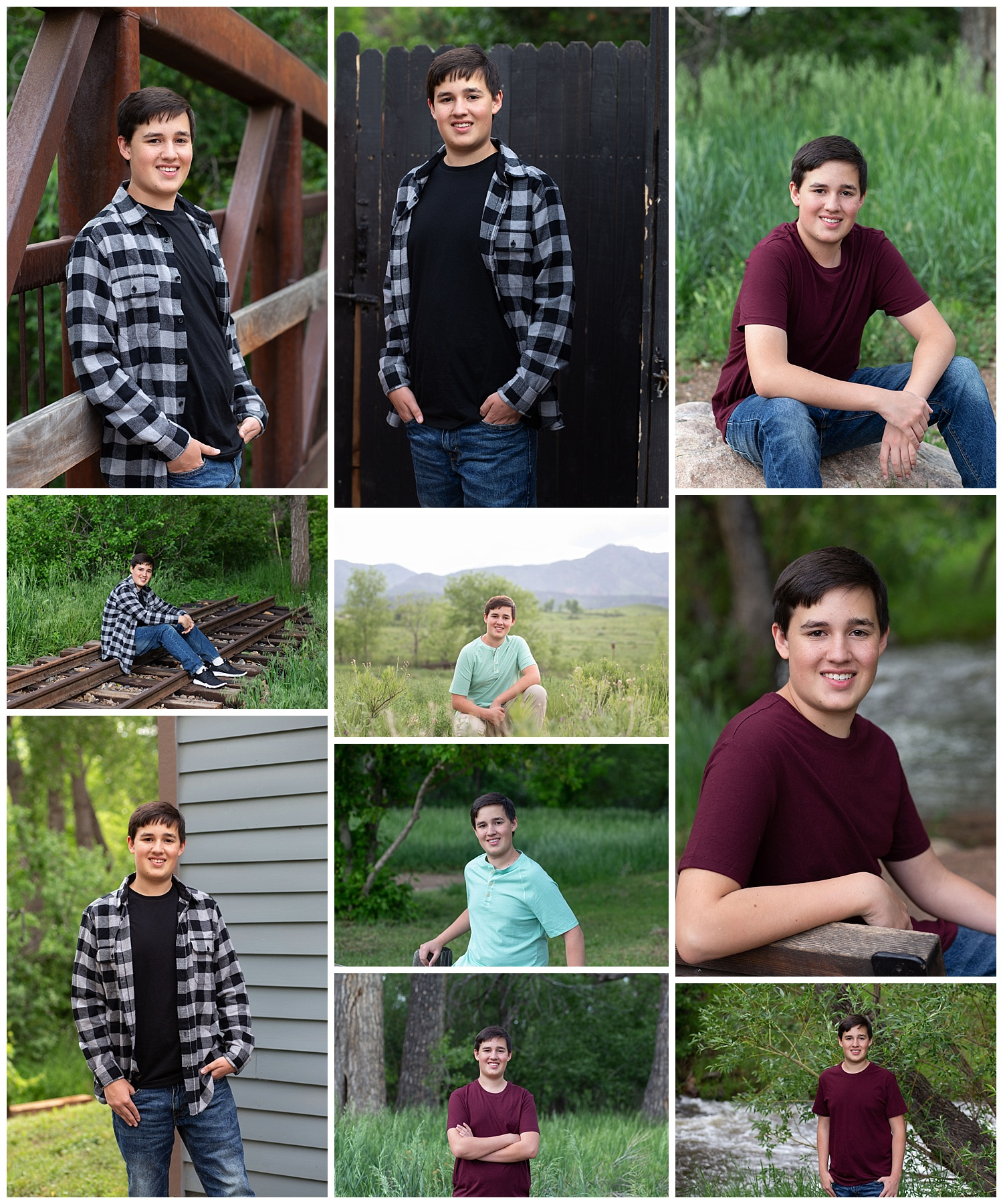 Reid's high school senior portraits were taken on June 7, 2019.