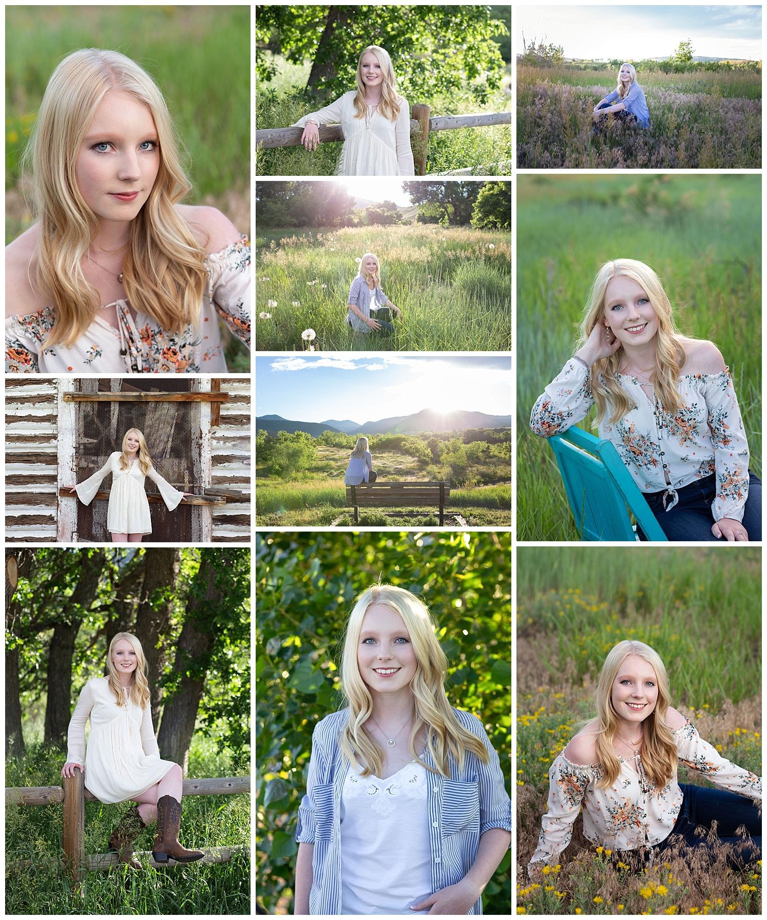 Emma's high school senior photos were taken on June 24, 2019.