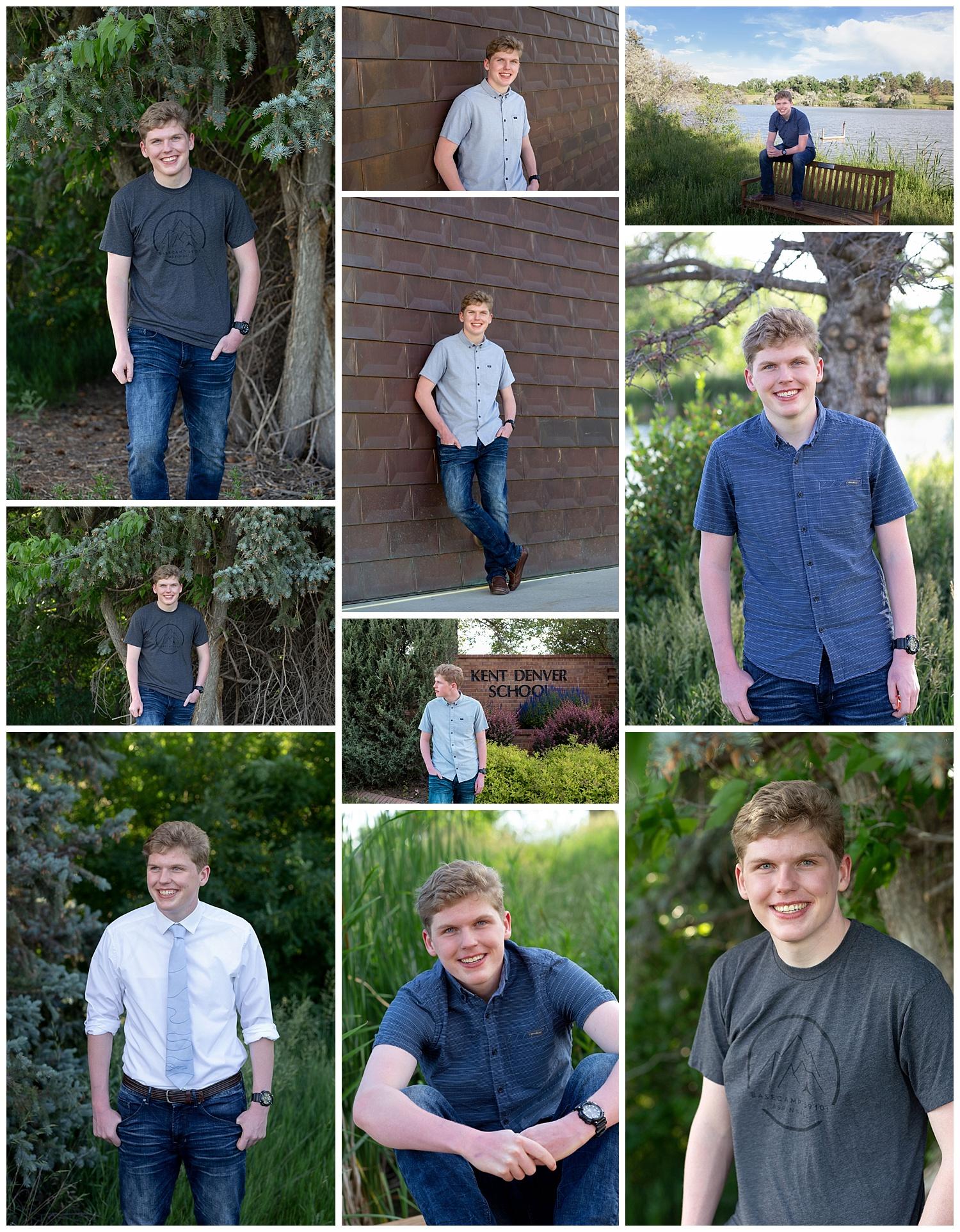 Grant had his high school senior portraits taken on June 25, 2019.