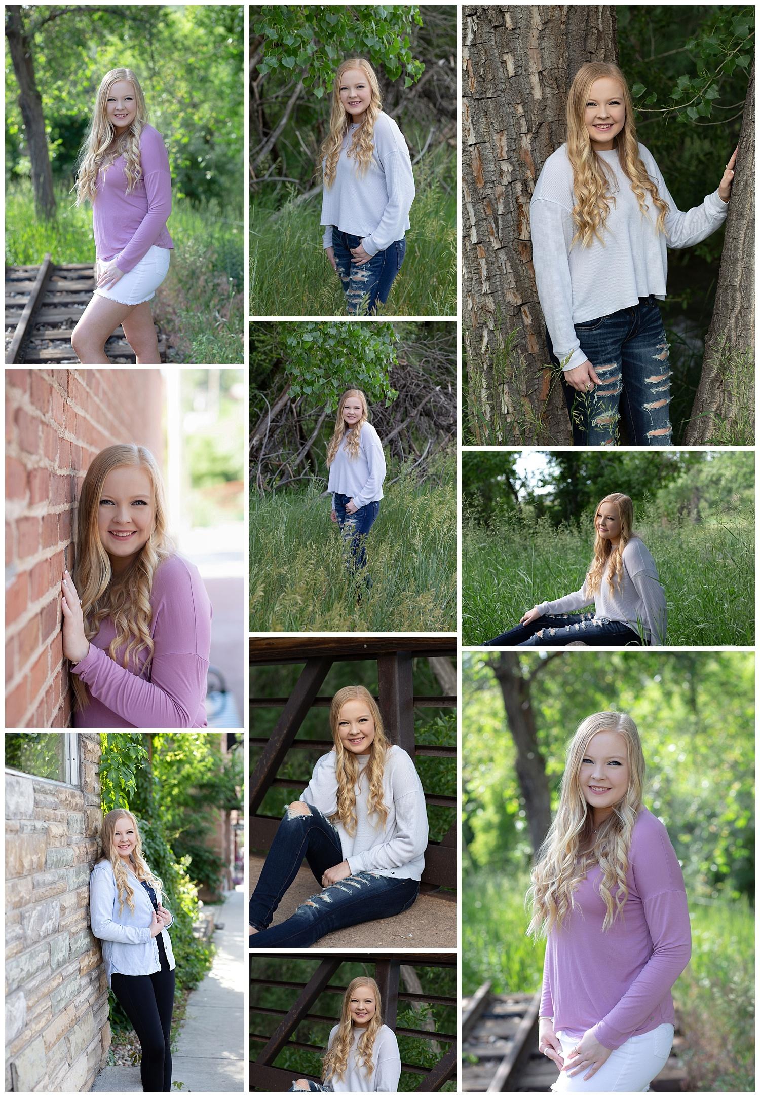 Nichole had her high school senior photos taken on June 29, 2019 with her best friend Kate!