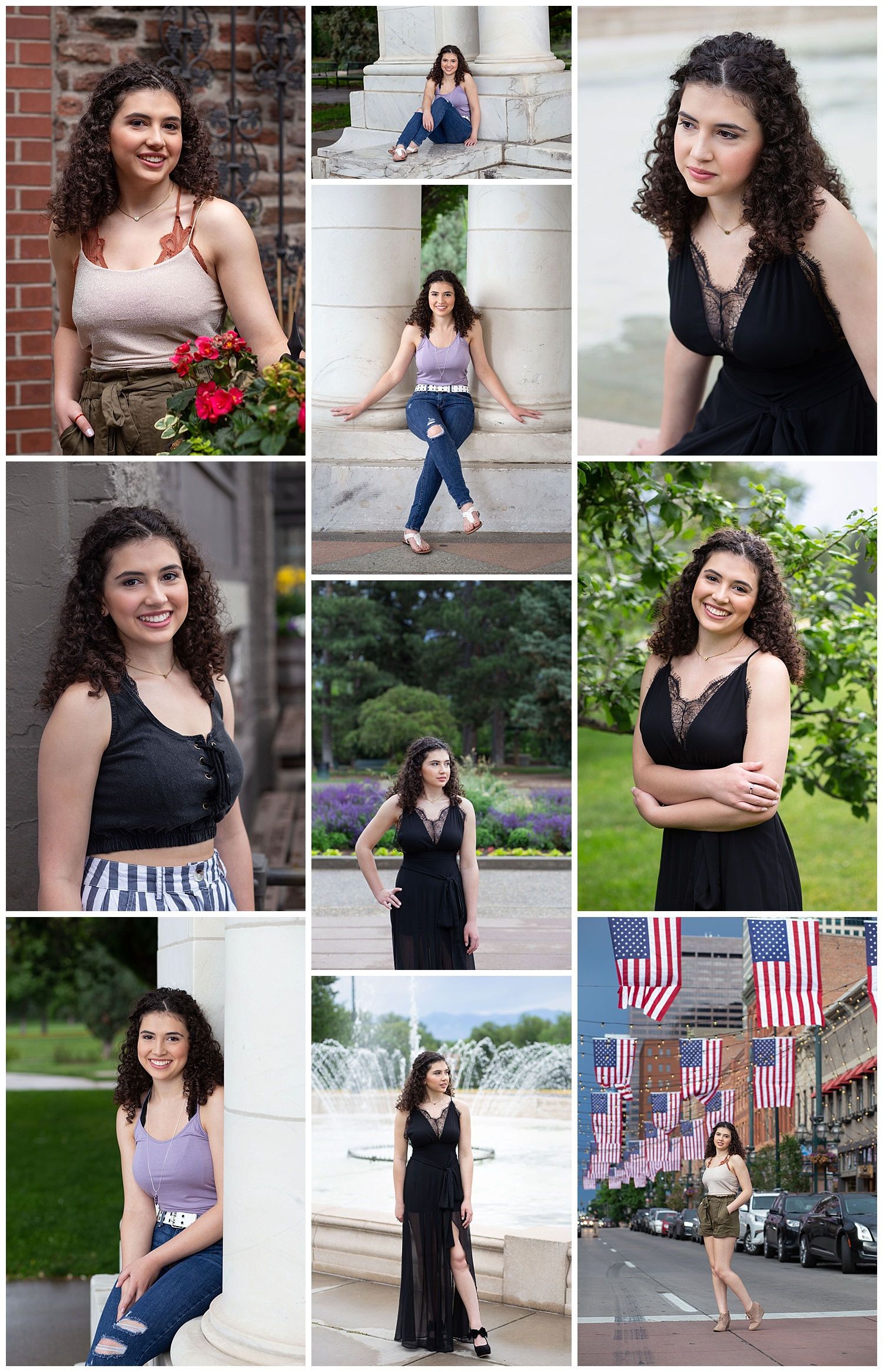 Bella had her high school senior portraits taken on June 30, 2019.