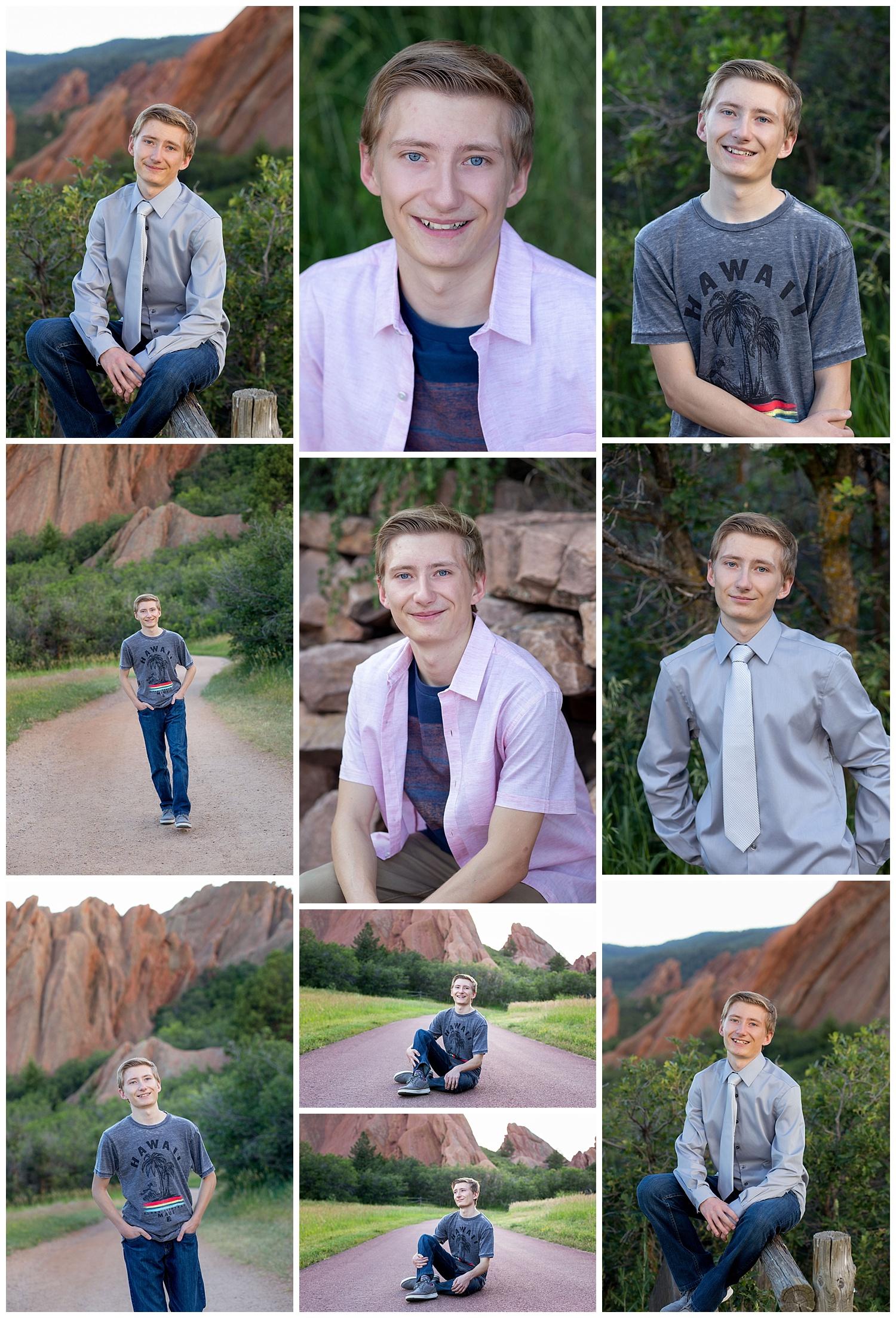 Jay had his high school senior portraits taken on July 10, 2019.