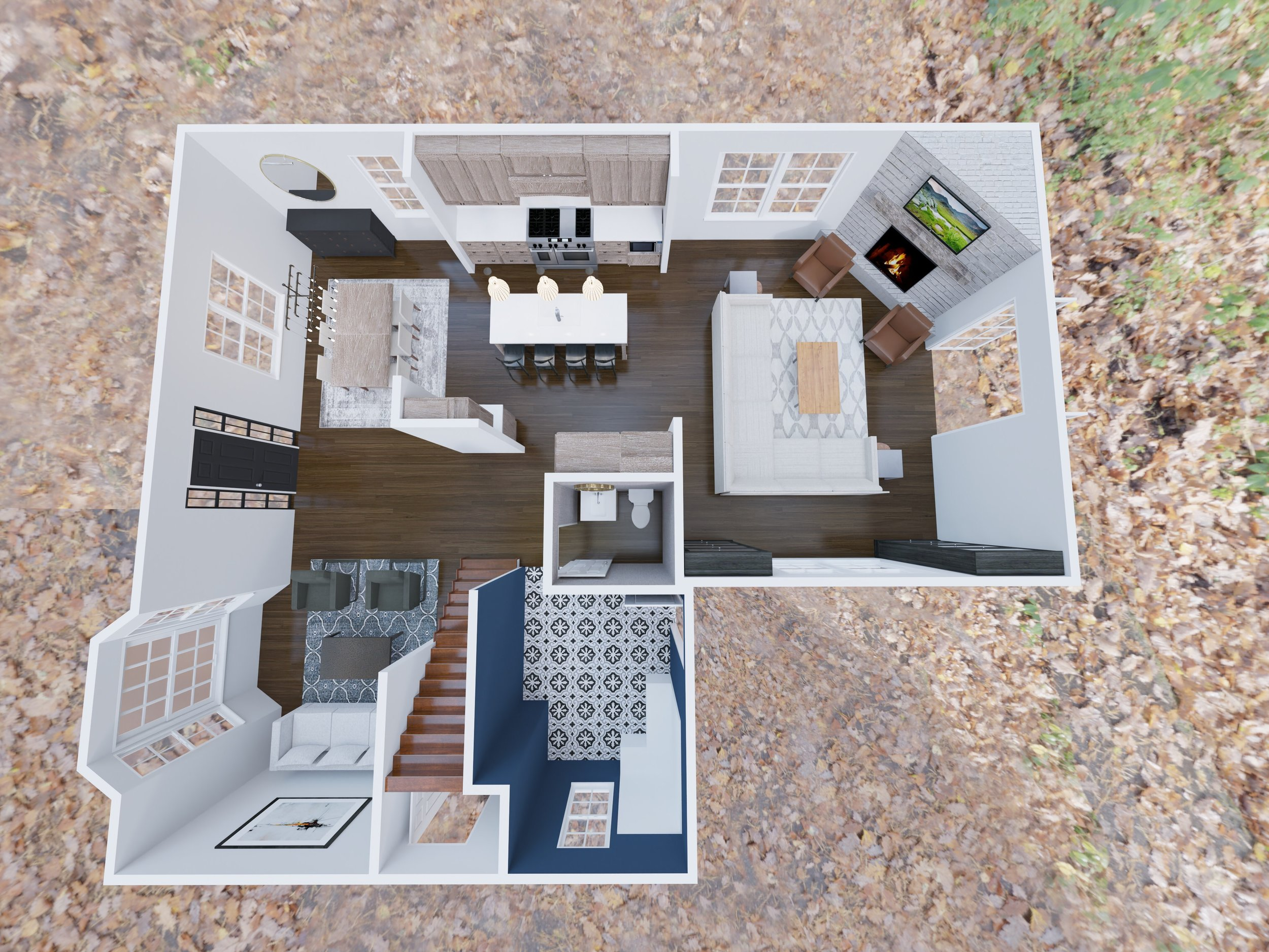 A well thought out first floor layout with open floor plan and a rockin' big mudroom!!!