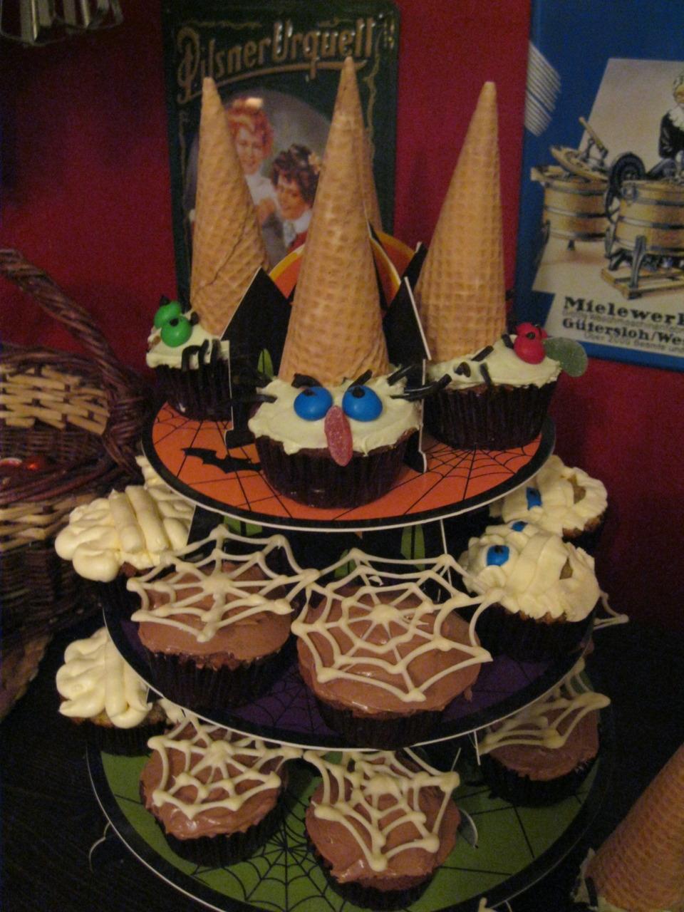 Halloween Cupcake Pyramide