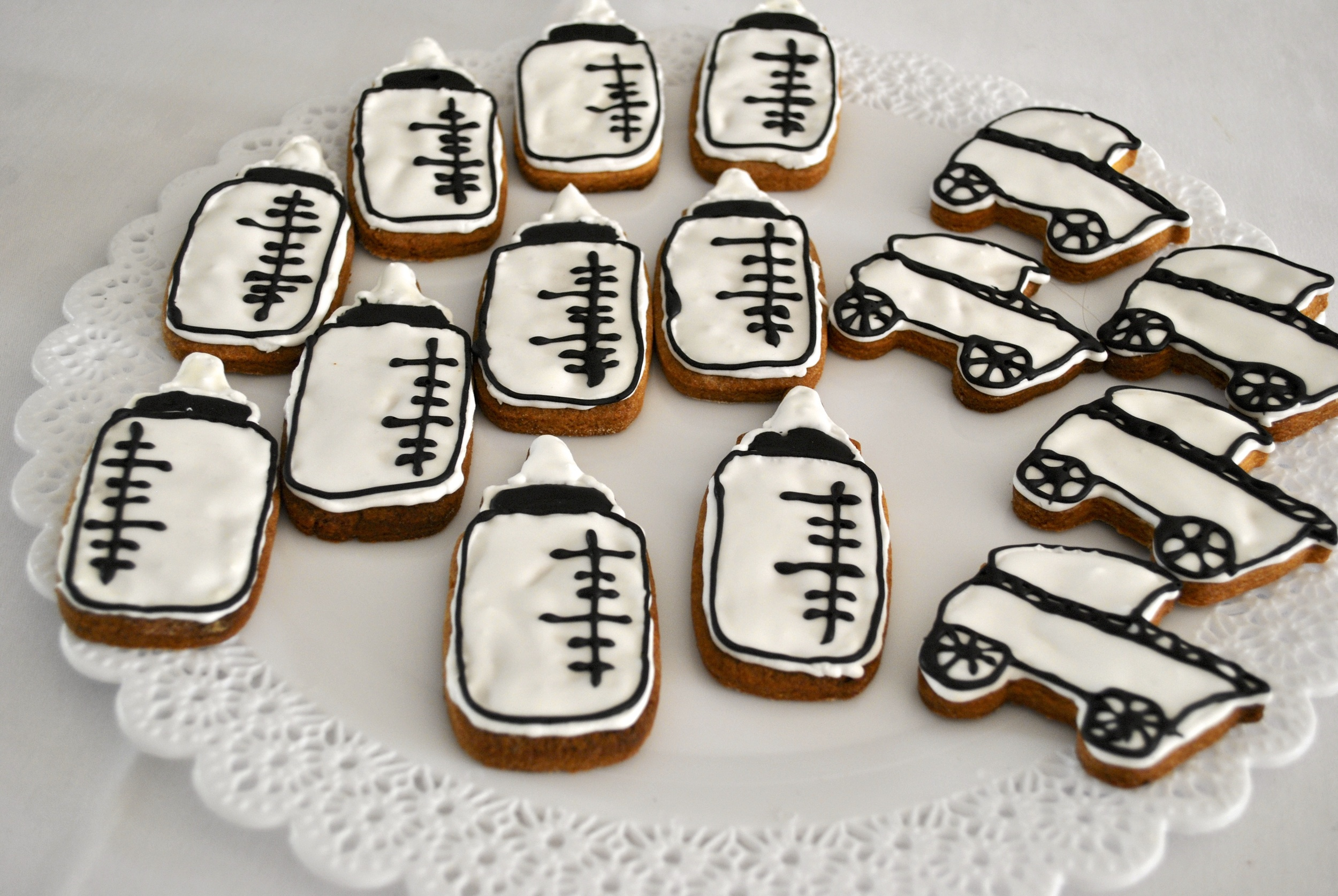 milk bottles & stroller cookies
