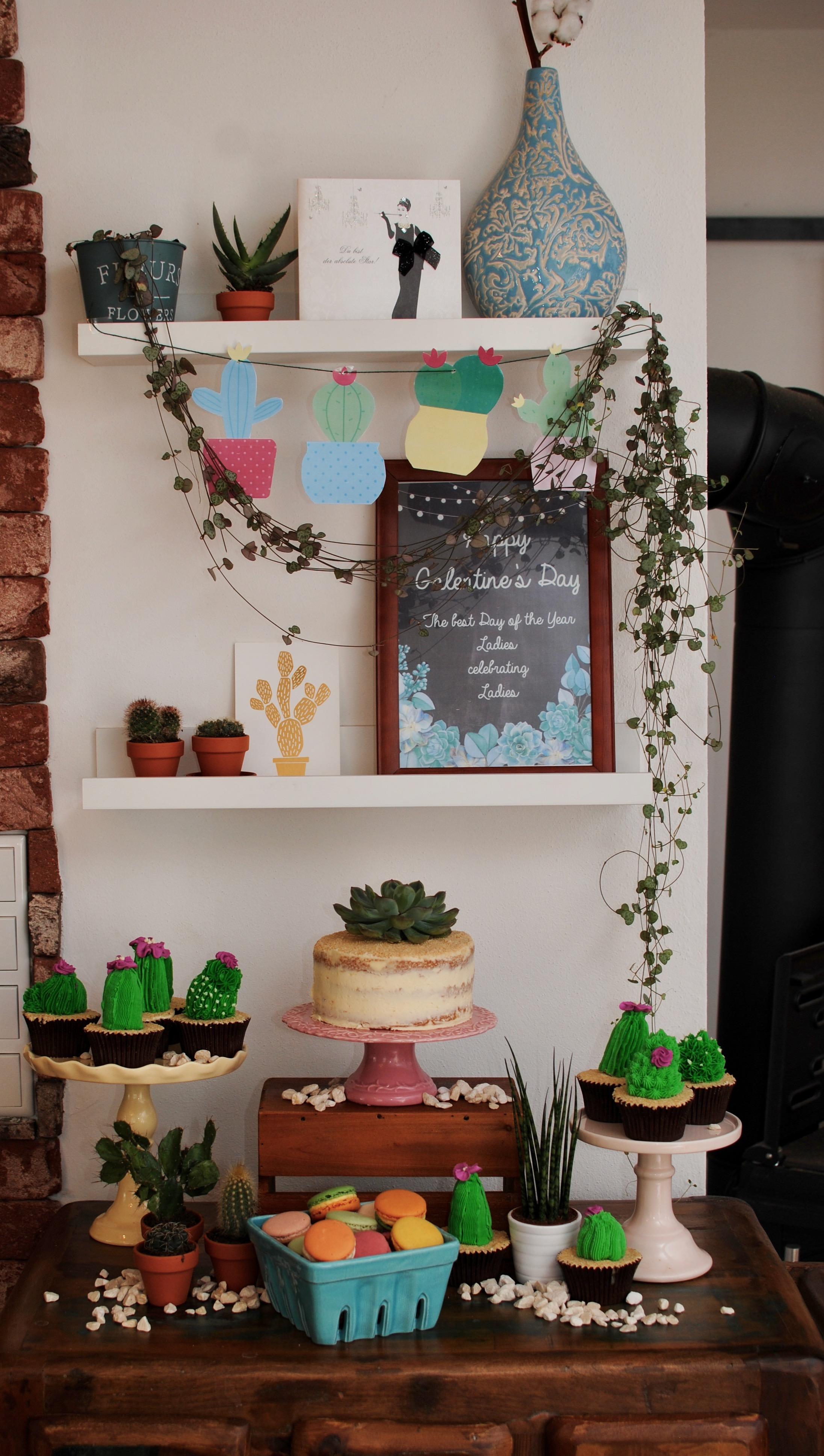 Sukkulenten Kaktus Sweet Table
