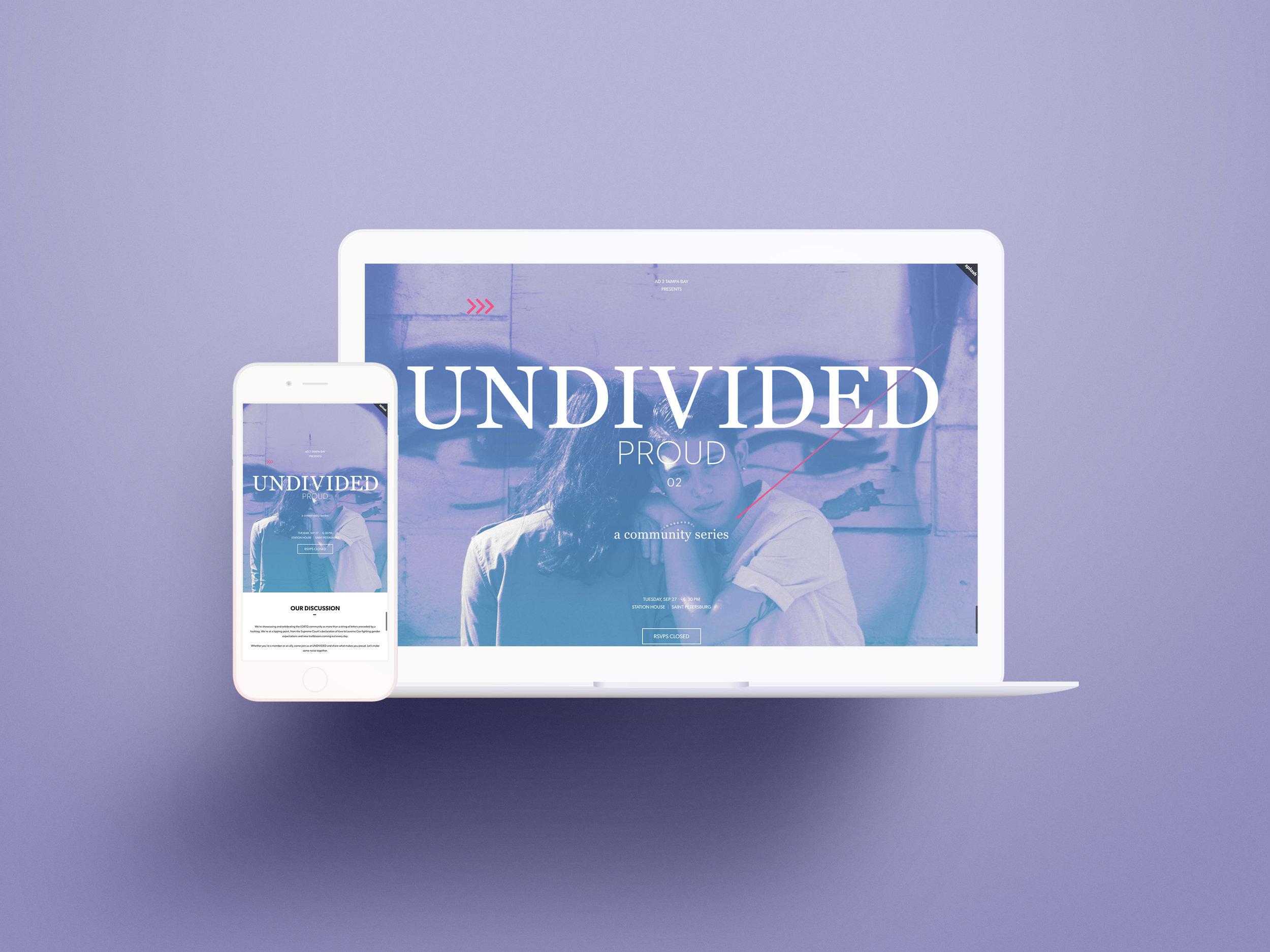 UNDIVIDED: Proud Homepage