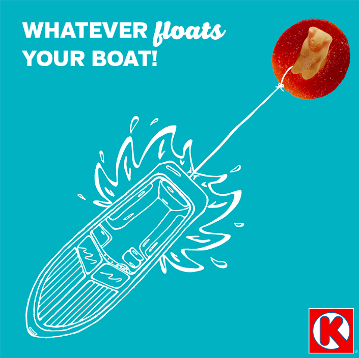 """Make a day on the water sweeter by stopping by Circle K for your favorite summer snacks."""