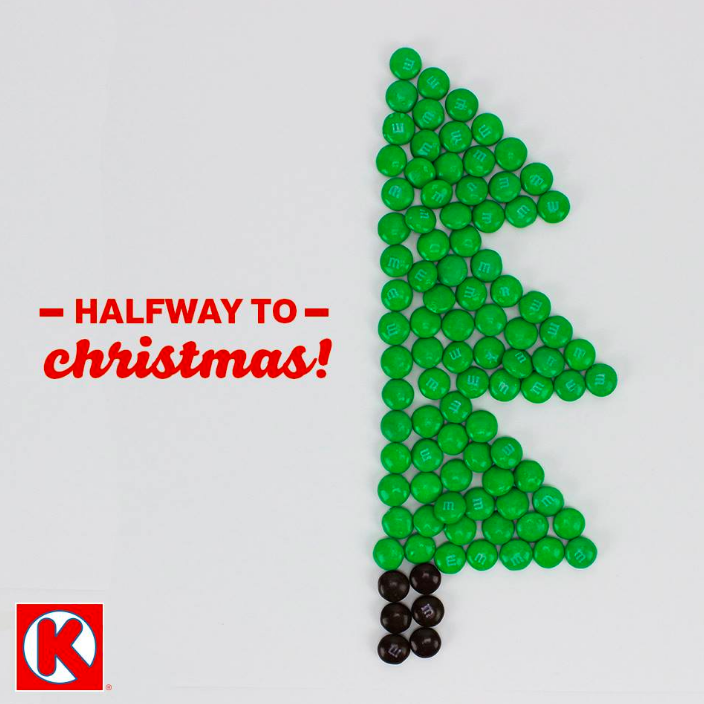"""The winter festivities are right around the corner! Celebrate Christmas in July with your favorite treats from Circle K!"""