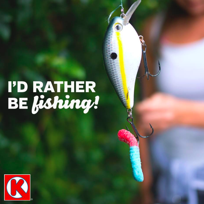 """They say a bad day of fishing is better than a good day at the office. What do you want to hook and reel in this weekend?"""