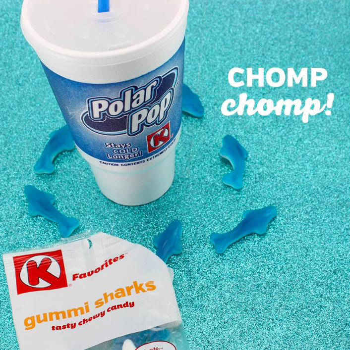 """It's almost Shark Week! You're gonna need a bigger cup! Circle K has everything you you'll want to take a bite out of during your shark infested marathons."""