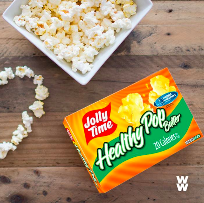 """Hey #WWFam, share the love on Valentine's Day with Jolly Time Pop Corn Healthy Pop. Only 3 #SPV per serving. 💕"""