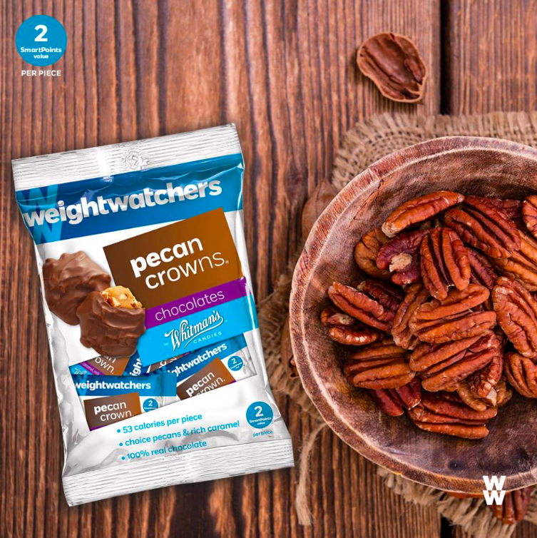 """We're nuts about Weight Watchers pecan crowns. At 2 SPV, what's not to  #love !"""