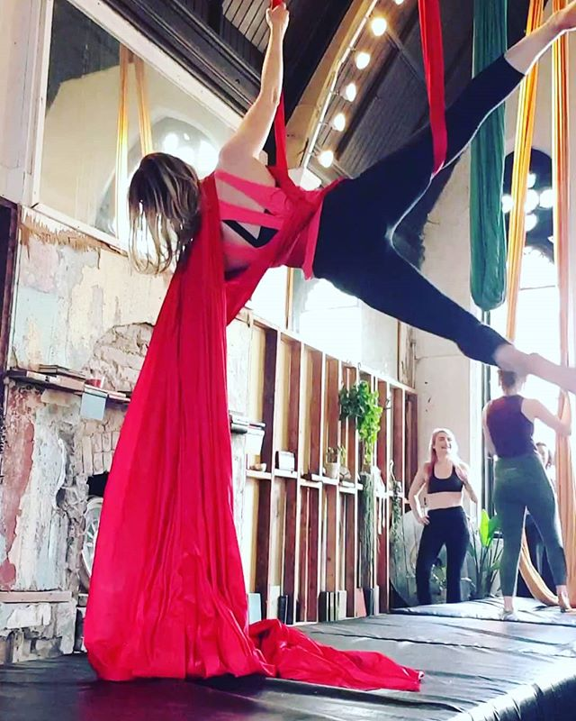 Favourite place to hang on the weekend  #aerialsilks