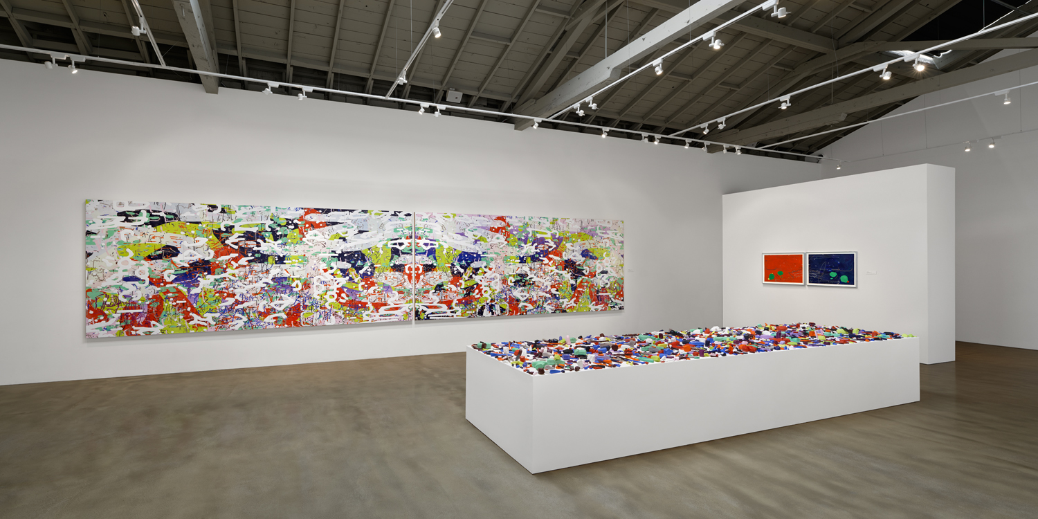 [installation]   Iterations & Assertions,  2014 Site-specific mural, sculptural installation, works on paper