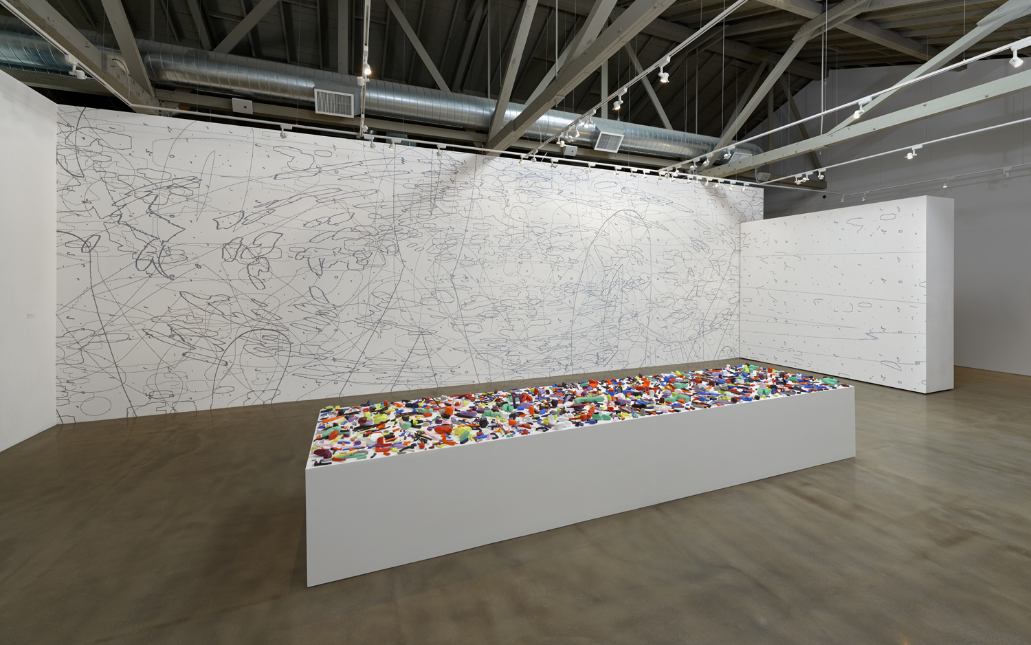 [installation]  Iterations & Assertions,  2014 Site-specific mural, sculptural installation