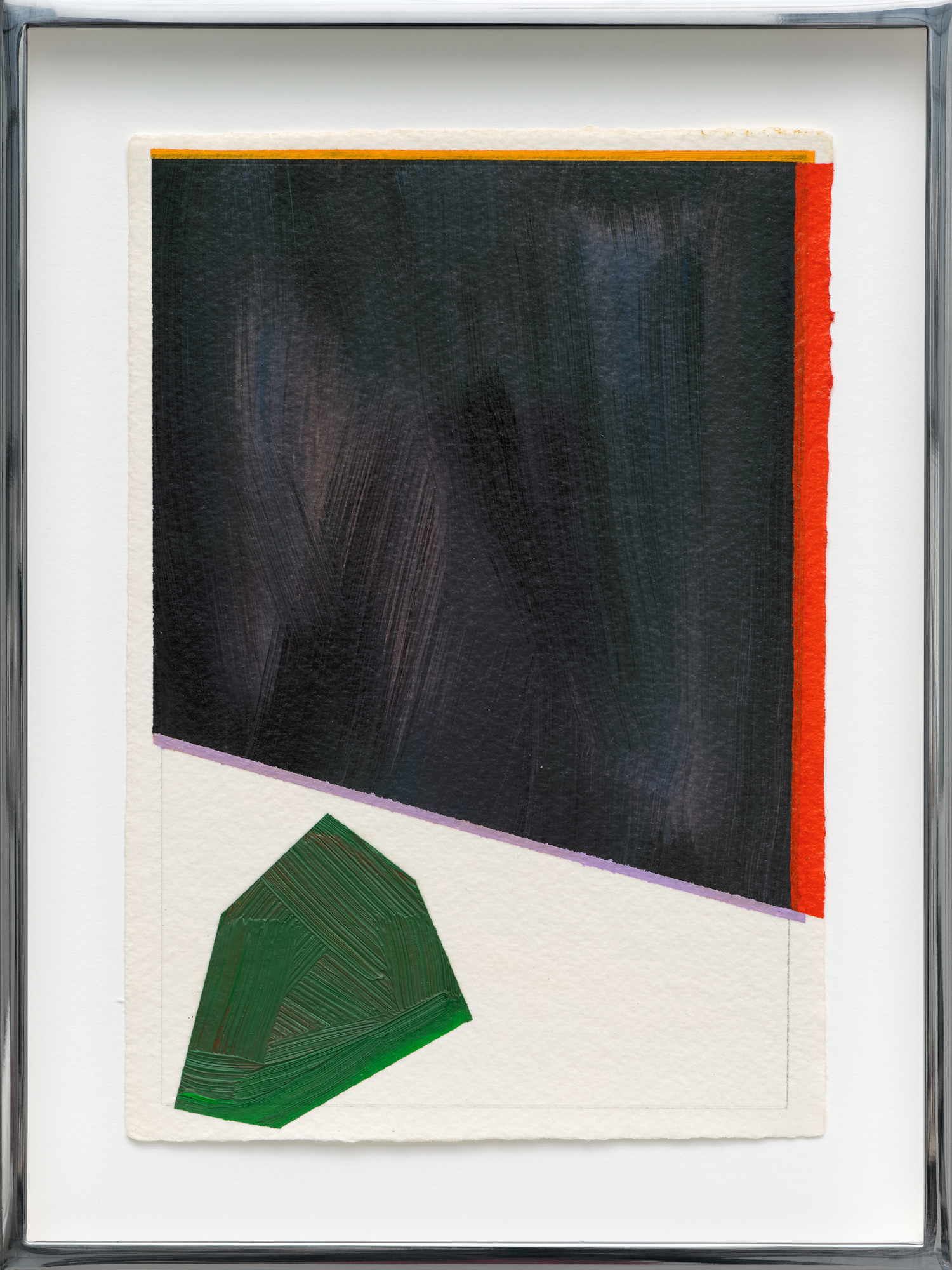 "(Untitled) Oil Study No. 25,  2013 Oil on prepared paper 8 ¼"" x 5 ¾"" (10 ¼"" x 7 ¾"" x 1 ¼"" framed)"