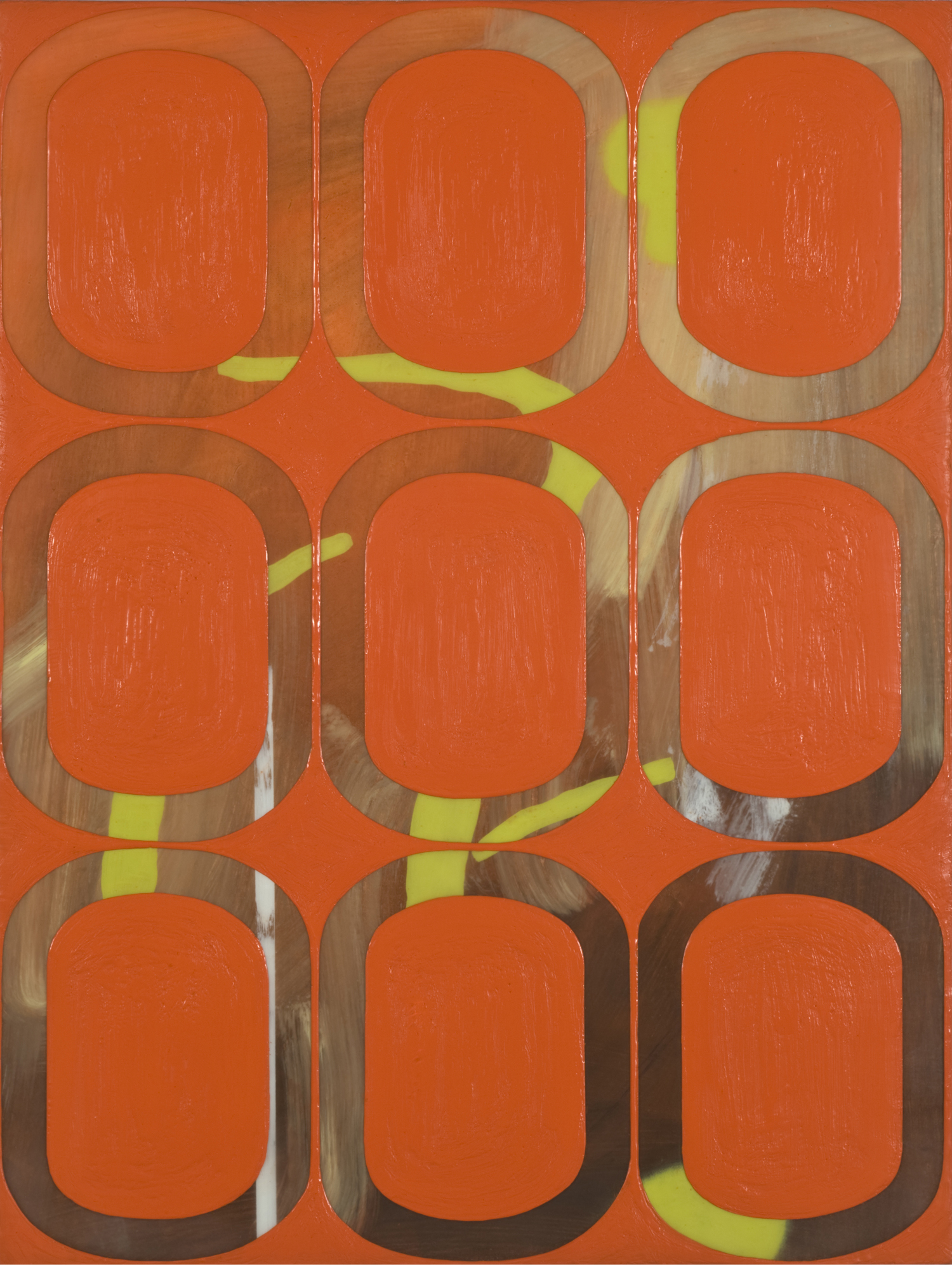 """Inverse Study #5, 2009 Oil and encaustic on panel 16"""" x 12"""" x ⅞"""""""