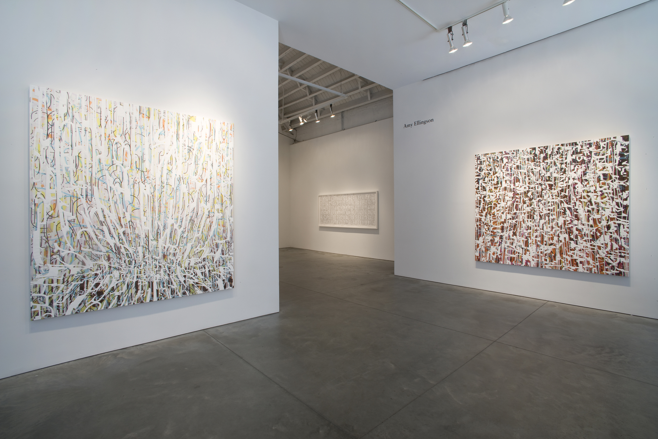 [installation]  Recursions, 2008 Paintings, framed works on paper Dimensions variable