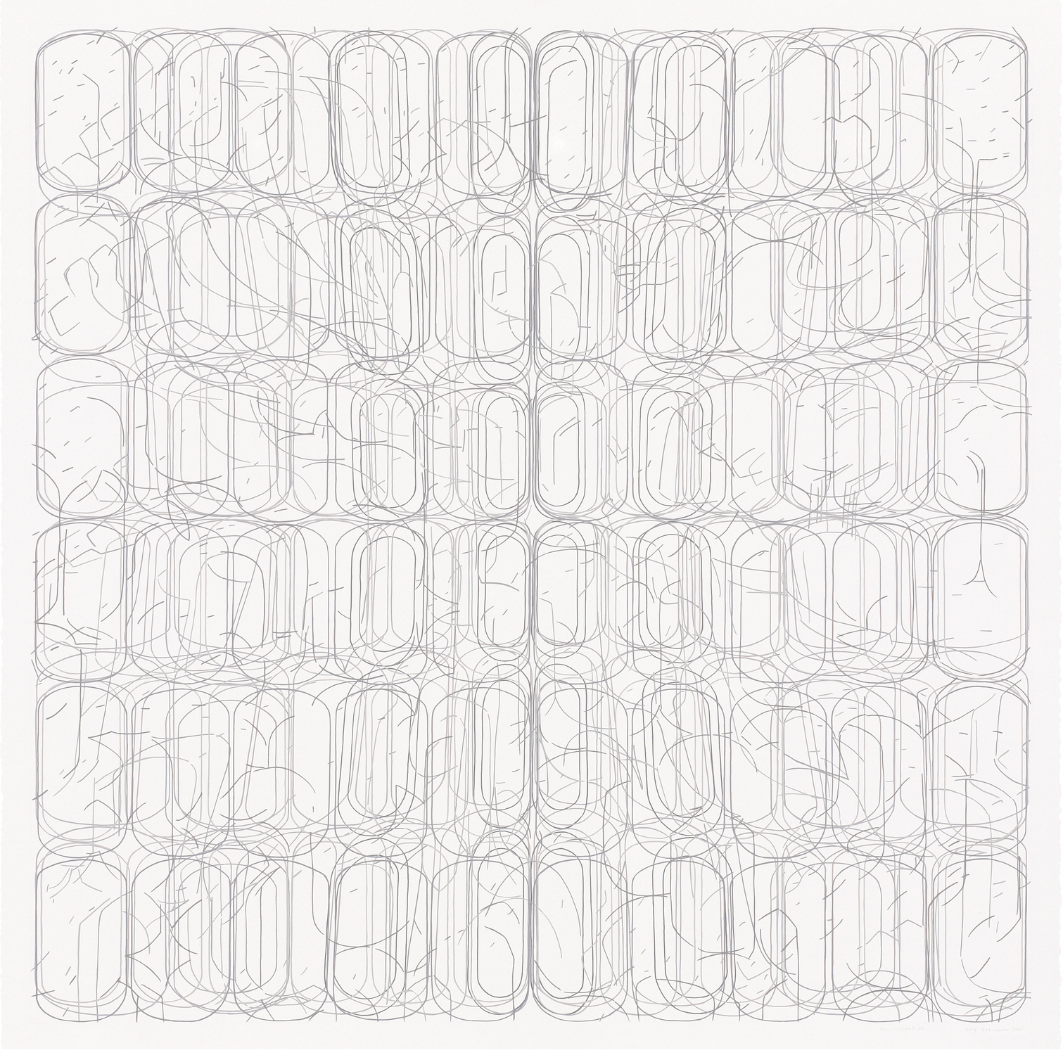 "No. 062008.01, 2008 Gouache on Rising Stonehenge paper 38"" x 38"" (41"" x 41"" framed)"