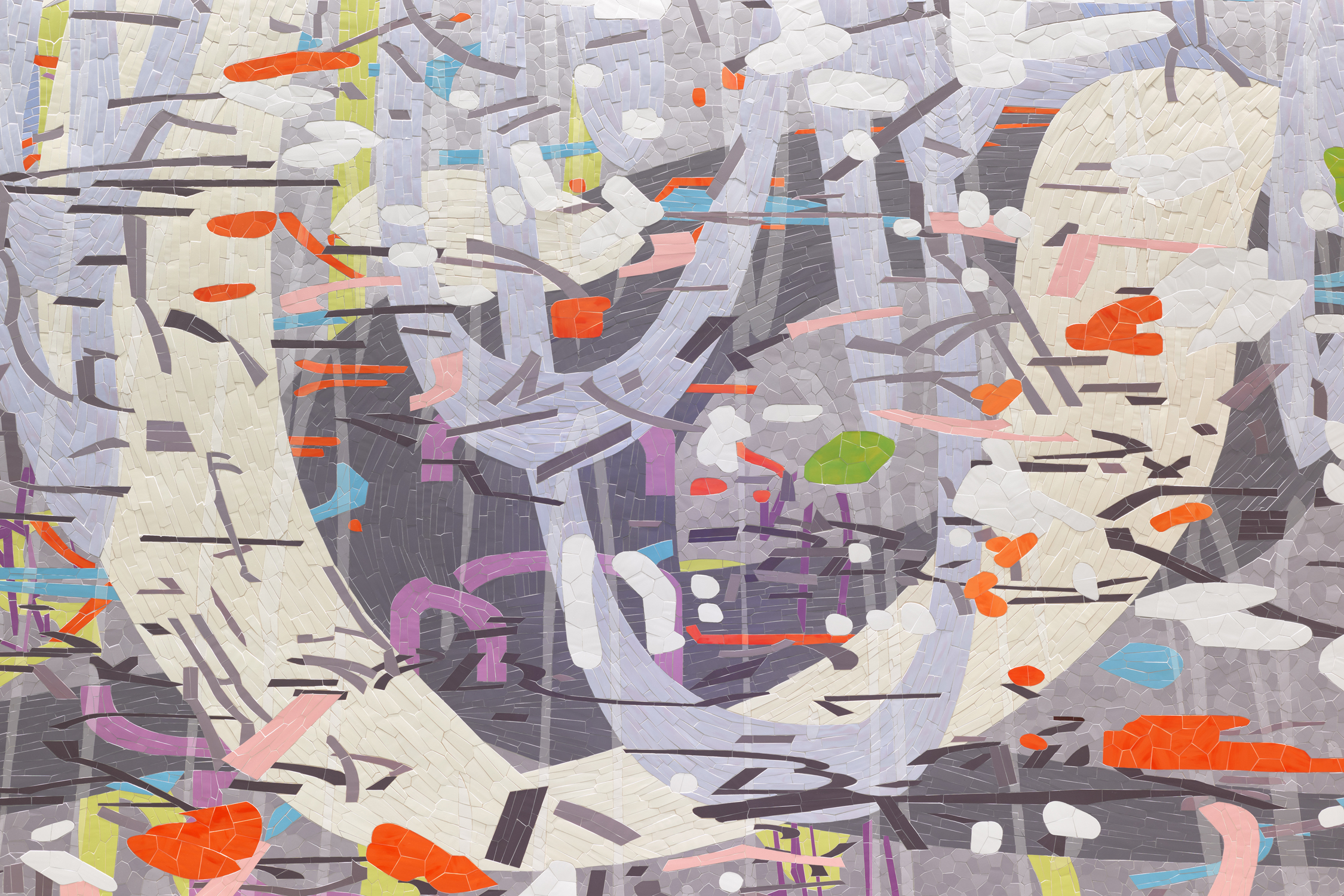 [detail]  Untitled (Large Variation),  2015 Ceramic mosaic 10' x 109' San Francisco International Airport