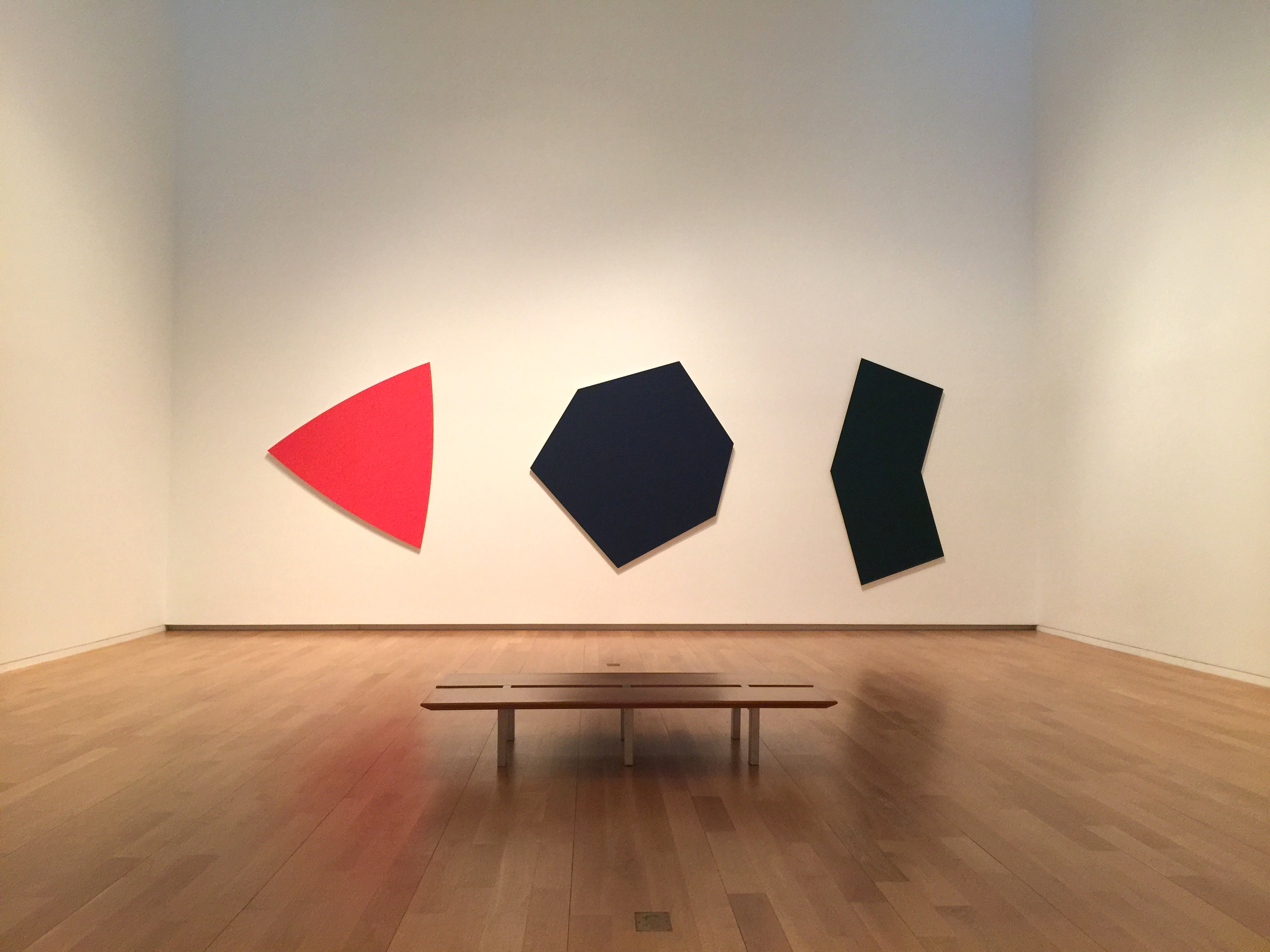 The museum has many single-artist spaces.  I love this Ellsworth Kelly installation.