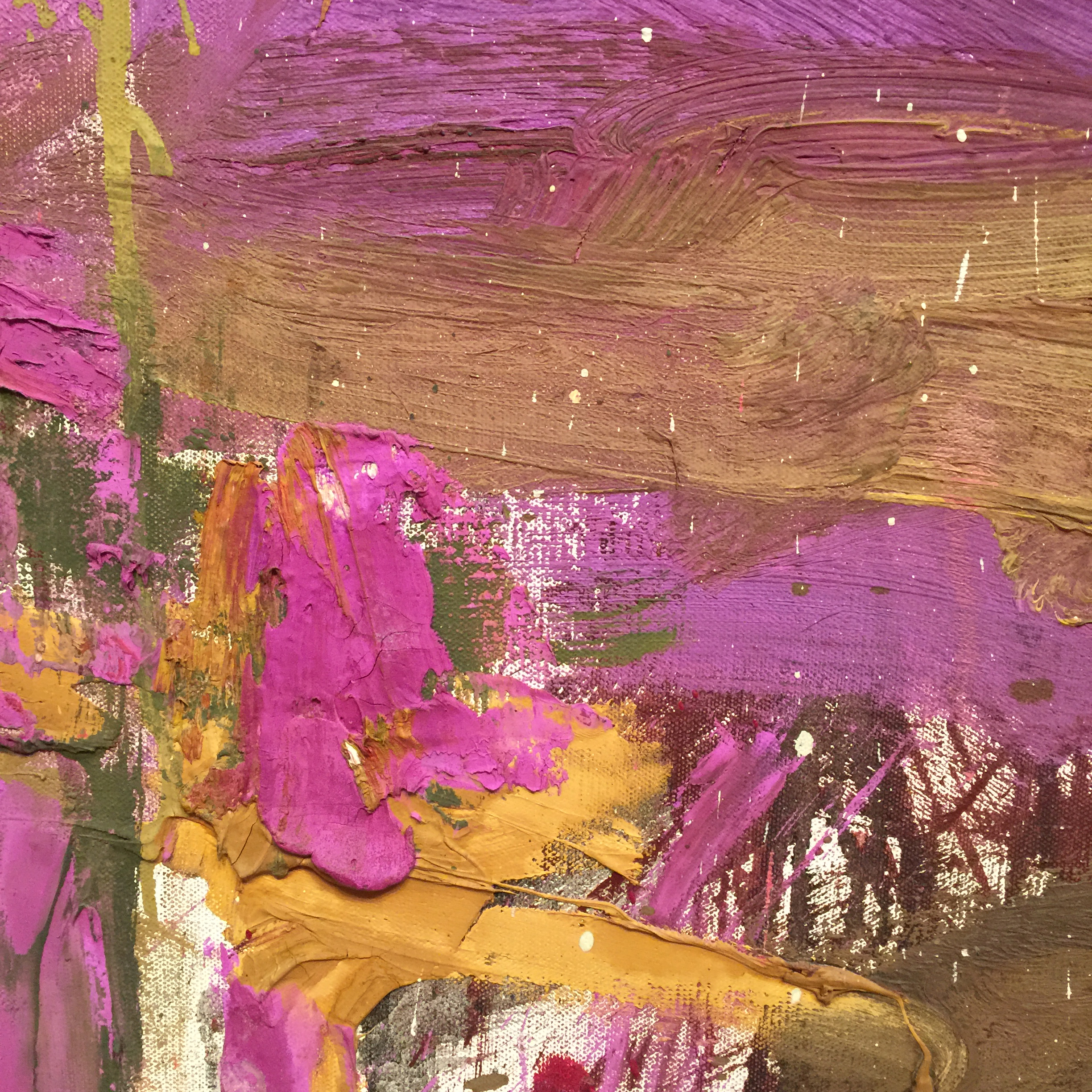 [detail] It was timely for me to see these color relationships as I am working on two paintings with strong yellow and purple elements.