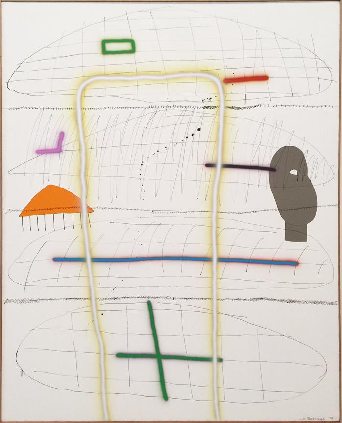 Sadamasa Motonaga, ine,Line, Line, 1979.