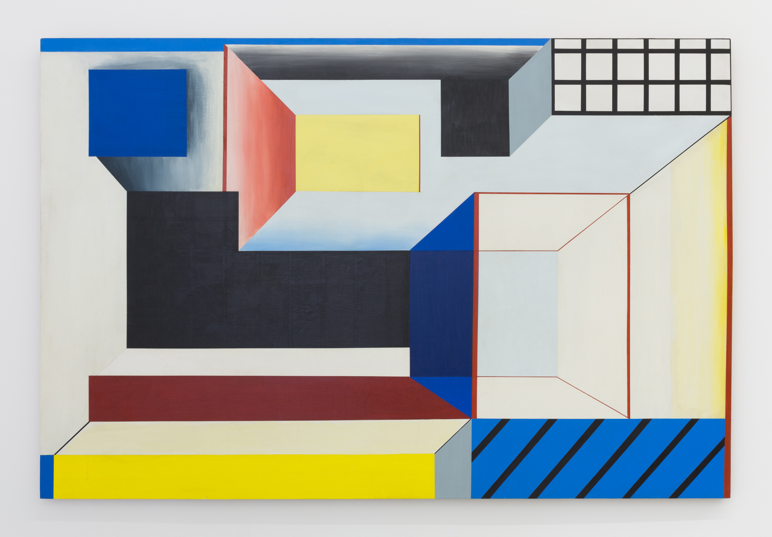 SUZANNE BLANK REDSTONE,  Portal 1,  1967. Acrylic on shaped masonite, 44.5 x 66 inches
