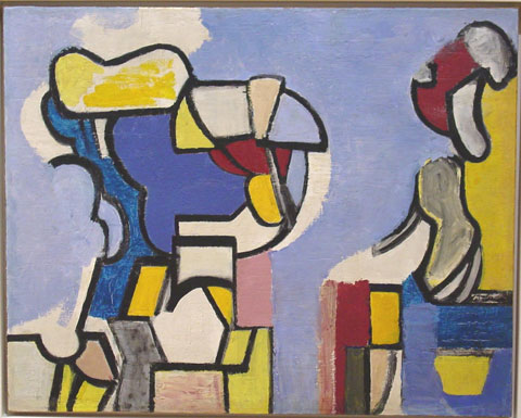Nell Blaine, Abstraction, 1948-49
