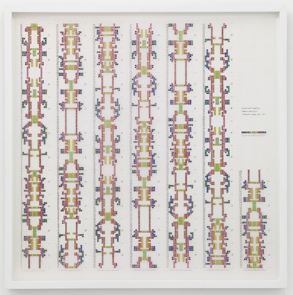 Channa Horwitz, Sonakinatography I Composition XXII , 1991
