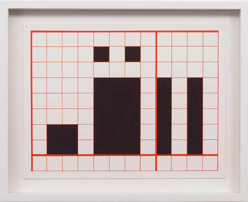 Channa Horwitz,  Language: Series Three , 1964.