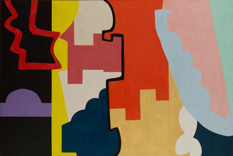 Shirley Jaffe, The Black Line,  1974