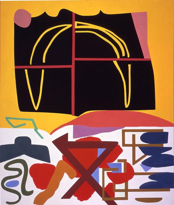 Shirley Jaffe, Four Squares Black, 1993