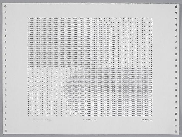 Frederick Hammersley, Screen Door, 1969, computer-generated drawing on paper