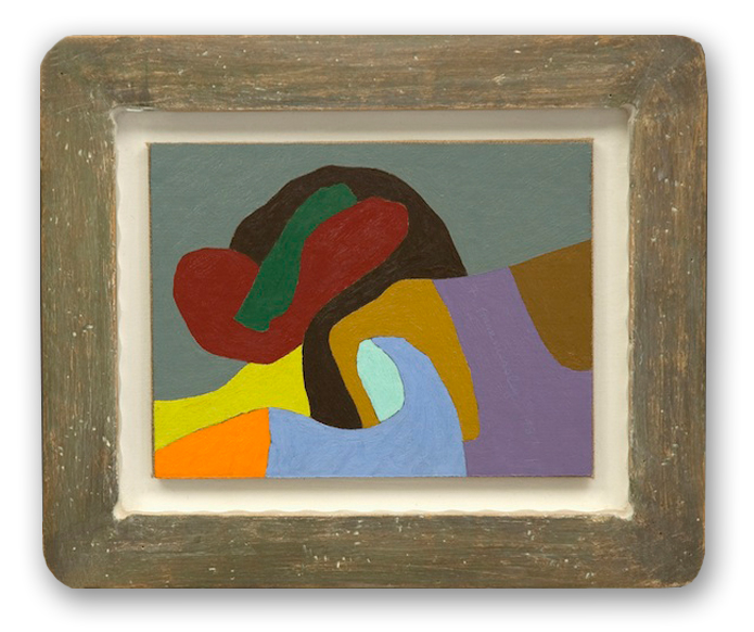 Frederick Hammersley, Orchestra, 1987,oil on rag paper on linen on wood in artist-made frame