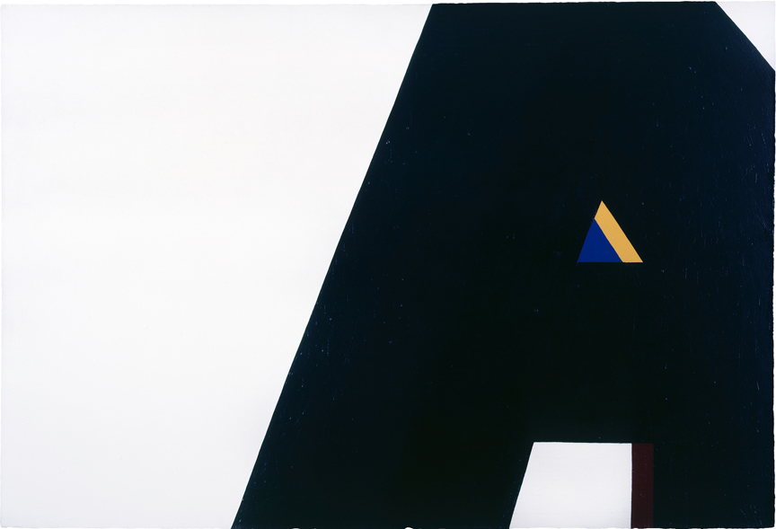 """Al Held,T he Big """"A,"""" 1962, acrylic on canvas,120 x 168 inches"""